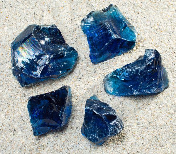 Glasbrocken dunkelblau - 40-80mm