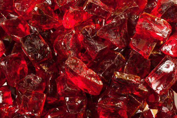Glassteine rot - 10-20mm