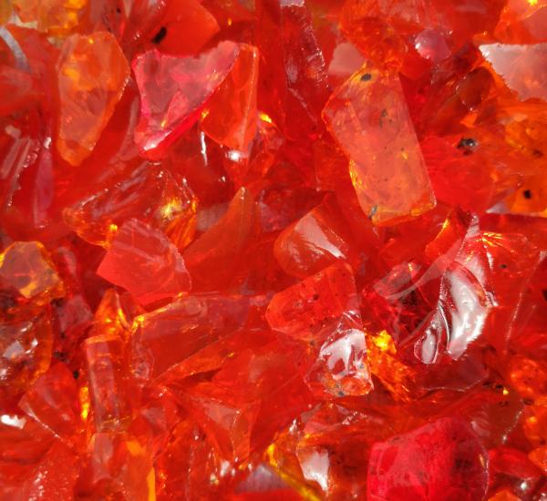 Glassteine orangenrot - 10-20mm