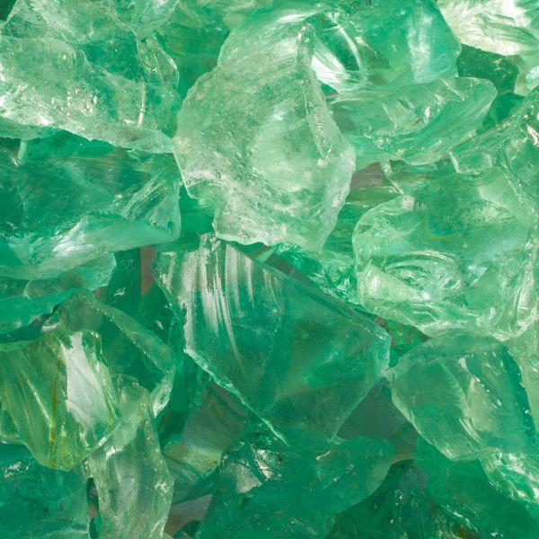 Glassteine hellgrün - 20-40mm
