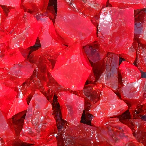 Glassteine wassermelone rot - 20-40mm