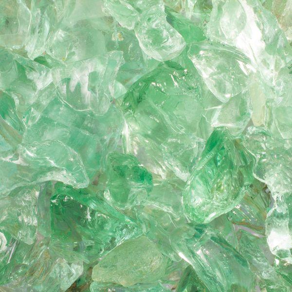 Glassteine hellgrün - 10-20mm