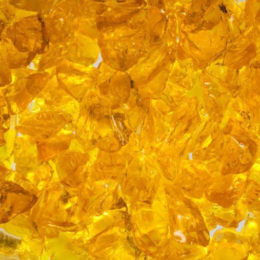 Glassplitt gelb - 5-10mm
