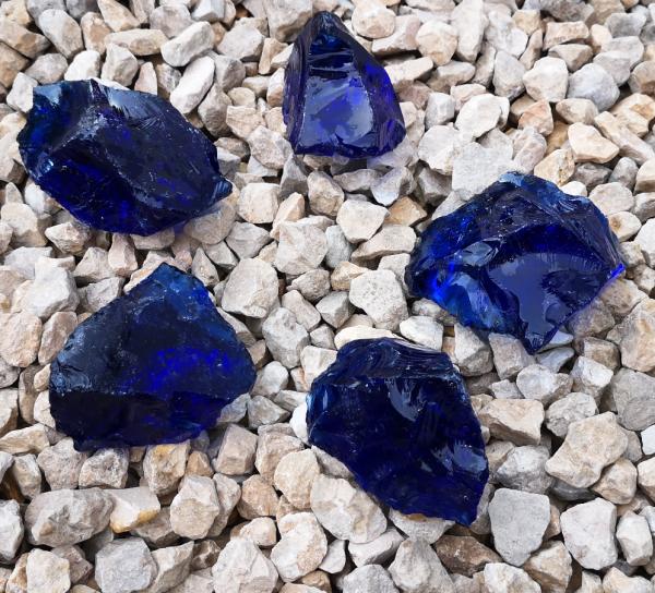Glasbrocken kobaltblau - 40-80mm