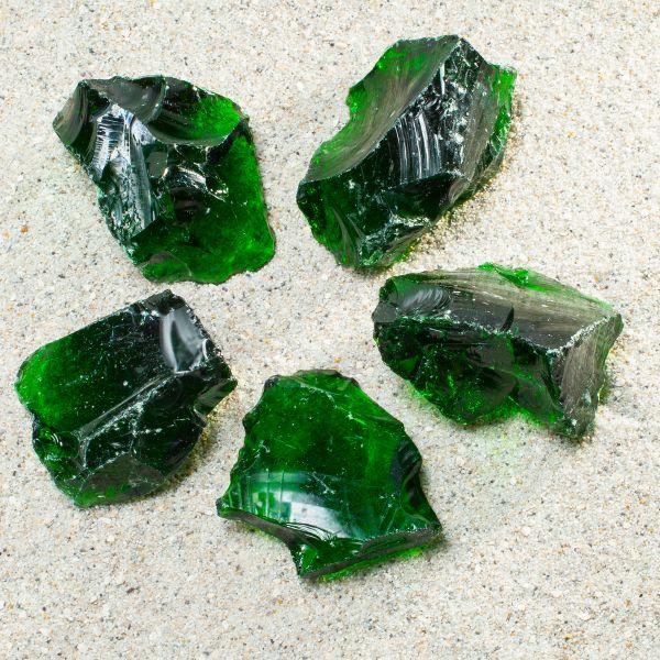 Glasbrocken grün - 40-80mm
