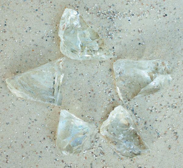Glasbrocken kristallklar - 40-80mm