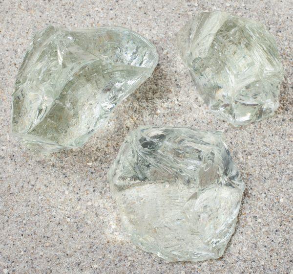 Glasbrocken kristallklar - 60-100mm