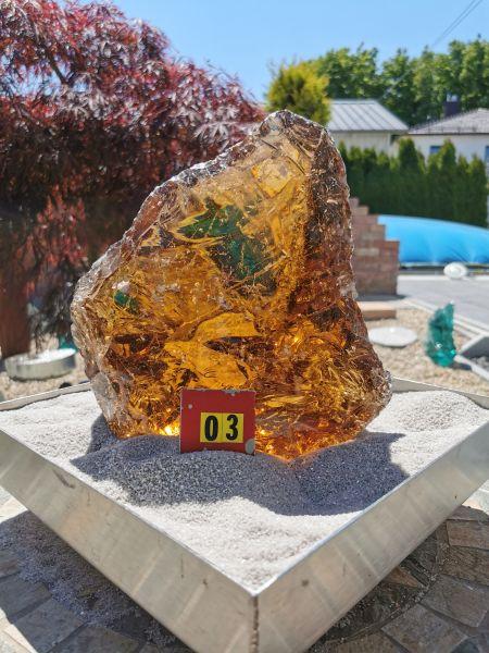 Glasbrocken bernstein groß, ca. 6,25kg, ca.23*20*09cm, B03