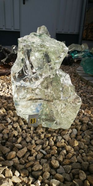Glasbrocken klar transparent ca.15,80kg, Abmessungen: ca.17*18*35 K01