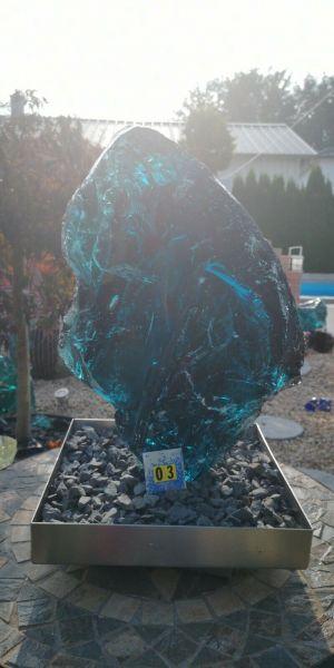 Glasbrocken meerblau ca. 17,40kg Abm.:ca.43*26*11cm MB03