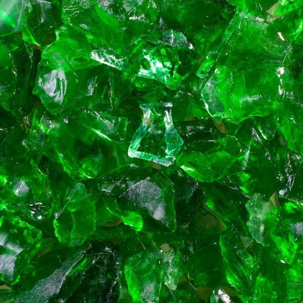 Glassteine grün - 10-20mm