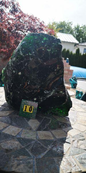 Glasbrocken Grün ca.11,30kg, Abmessungen: ca.18*23*26cm G10